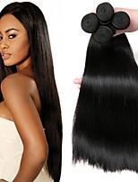 Недорогие -Бразильские волосы Прямой Ткет человеческих волос 4шт Горячая распродажа Удлинитель Человека ткет Волосы Накладки из натуральных волос Все