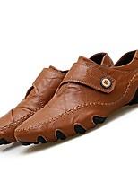 abordables -Homme Chaussures Polyuréthane Eté Automne Chaussures de plongée Confort Mocassins et Chaussons+D6148 pour Décontracté Noir Marron