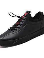 cheap -Men's Shoes PU Spring / Fall Comfort Sneakers Black / Red