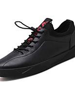 baratos -Homens sapatos Couro Ecológico Primavera / Outono Conforto Tênis Preto / Vermelho
