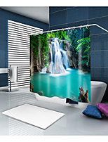 cheap -Shower Curtains & Hooks Casual Country Polyester Novelty Machine Made Waterproof Bathroom