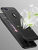 cheap -Case For Apple iPhone X iPhone 8 Ultra-thin Back Cover Solid Colored Hard PC for iPhone X iPhone 8 Plus iPhone 8 iPhone 7 Plus iPhone 7