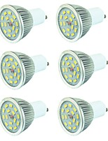 abordables -6pcs 3W 400lm GU10 Spot LED 15 Perles LED SMD 5730 Blanc Chaud Blanc Froid 220-240V
