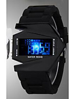 cheap -Men's Couple's Digital Fashion Watch Sport Watch Casual Watch Chinese Calendar / date / day Casual Watch Noctilucent Silicone Band Luxury