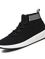 cheap -Men's Shoes Knit Summer Comfort Sneakers Side-Draped for Casual Gray Black/White Black/Red