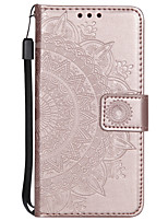 cheap -Case For Sony Xperia XA XA1 XA1 ULTRA XA2 XA2 ULTRA XZ XZ1 SONNY1 II SONNY10 II Card Holder Flip Pattern Full Body Cases Flower PU Leather TPU