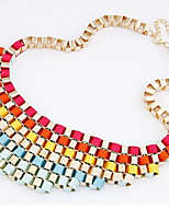 cheap -Women's Collar Necklace  -  Oversized Geometric Rainbow 50cm Necklace For Evening Party Date