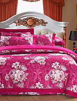 cheap -Duvet Cover Sets Floral Luxury 4 Piece 100% Cotton Cotton Jacquard Jacquard 100% Cotton Cotton Jacquard 1pc Duvet Cover 2pcs Shams 1pc