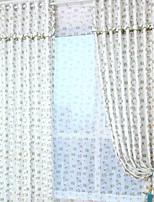 economico -Blackout tende tende Camera da letto Tinta unita Cotone / poliestere Con stampe