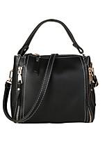 cheap -Women's Bags PU Shoulder Bag Zipper for Casual Red / Blushing Pink / Wine