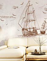 abordables -Autocollants muraux décoratifs - Autocollants muraux animaux Paysage Nautique Salle de séjour Chambre à coucher Salle de bain Cuisine