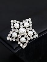 cheap -Women's Brooches Rhinestone Pearl Alloy Geometric Gold Silver Fashion European Jewelry Wedding Daily Costume Jewelry