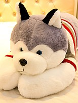 Недорогие -Собаки Животный принт Мягкие и плюшевые игрушки удобный Милый Силикон Подарок 1pcs