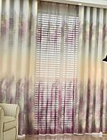 preiswerte -Vorhänge drapiert Wohnzimmer Zeitgenössisch Baumwolle / Polyester Bedruckt