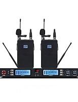 abordables -KAXISAIER NE601 Sans Fil Microphone Kit Microphone Dynamique Tenue Pour Microphone de Conférence