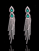 cheap -Women's Tassel Silver Plated Stud Earrings Hoop Earrings - Tassel Fashion Irregular For Wedding Daily