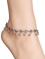 cheap -Bikini Anklet - Women's Silver Fashion Bikini Flower Alloy Anklet For Daily Bikini