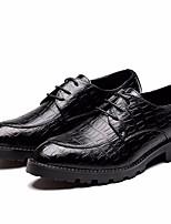 baratos -Homens sapatos Couro Ecológico Primavera Outono Conforto Oxfords para Casual Preto