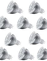 abordables -10pcs 4W 400lm MR16 Spot LED 4 Perles LED LED Haute Puissance Décorative Blanc Chaud Blanc Froid 12V