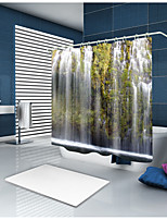 cheap -Shower Curtains & Hooks Casual Country Polyester Contemporary Novelty Machine Made Waterproof Bathroom