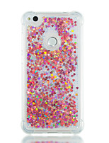 cheap -Case For Huawei P10 Lite P8 Lite (2017) Shockproof Flowing Liquid Back Cover Glitter Shine Soft TPU for P10 Lite P8 Lite (2017)