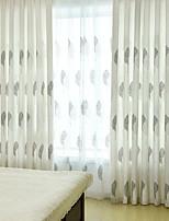 preiswerte -Vorhänge drapiert Wohnzimmer Blumen Baumwolle / Polyester Bedruckt