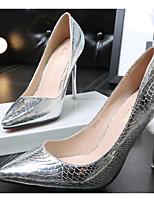 abordables -Femme Chaussures Polyuréthane Printemps / Automne Confort / Escarpin Basique Chaussures à Talons Talon Aiguille Or / Argent / Gris foncé
