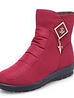 cheap -Women's Shoes Fabric Spring Winter Snow Boots Boots Wedge Heel Booties / Ankle Boots for Black Gray Dark Red
