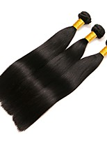cheap -Brazilian Hair Straight Human Hair Weaves 50g x 3 Hot Sale Extention Human Hair Extensions All Christmas Gifts Christmas Wedding Party