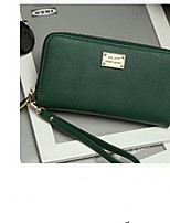 cheap -Women's Bags PU Wallet Buttons for Casual Green / Black / Blushing Pink