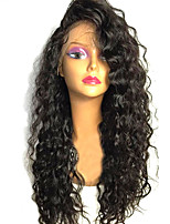 cheap -Remy Human Hair Wig Brazilian Hair Deep Wave Curly 130% Density With Baby Hair With Bleached Knots Unprocessed African American Wig