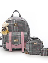cheap -Women's Bags PU Bag Set 3 Pcs Purse Set Zipper for Casual Black / Blushing Pink / Dark Brown