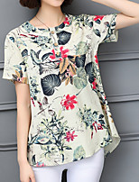 cheap -Women's Basic T-shirt - Floral Tropical Leaf, Print
