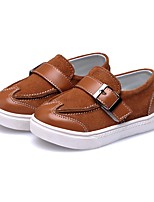 cheap -Boys' Shoes Leather Spring First Walkers Flats Magic Tape for Baby / Toddler Camel / Dark Green