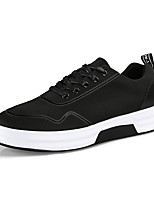 cheap -Men's Shoes Fabric Spring / Fall Comfort Sneakers Black / Silver / Black / White