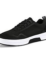 Недорогие -Муж. обувь Ткань Весна / Осень Удобная обувь Кеды Черный / Черно-белый