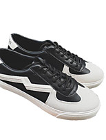 cheap -Men's Shoes PU Spring / Fall Comfort Sneakers Black / Black / White / White / Green