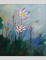 Недорогие -ручная роспись цветочный / ботанический квадрат, современная живопись маслом домашнее украшение одна панель