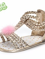 cheap -Girls' Shoes PU Summer First Walkers Comfort Sandals for Casual Gold