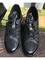 baratos -Homens sapatos Couro de Porco Outono / Inverno Conforto Tênis Preto