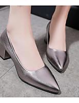 abordables -Mujer Zapatos PU Primavera / Otoño Confort / Pump Básico Tacones Tacón Cuadrado Negro / Gris / Rojo