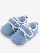 cheap -Girls' Boys' Shoes Fabric Spring Fall First Walkers Comfort Flats for Casual Gray Green Blue Pink