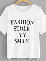 cheap -Women's Basic T-shirt - Letter, Print