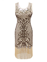 cheap -The Great Gatsby The Great Gatsby Costume Women's Flapper Dress Yellow Vintage Cosplay Polyster Sleeveless