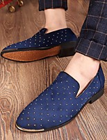 cheap -Men's Shoes PU Spring Fall Comfort Loafers & Slip-Ons for Casual Black Blue