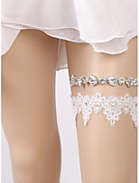 cheap -Lace European Style Wedding Wedding Garter 617 Rhinestone Lace Garters Wedding Party Evening