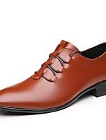baratos -Homens sapatos Courino Primavera Outono Sapatos formais Oxfords para Casual Escritório e Carreira Preto Castanho Escuro