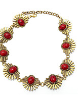 cheap -Women's Choker Necklace  -  Vintage Bohemian Circle Black Red Blue 40cm Necklace For Daily Evening Party