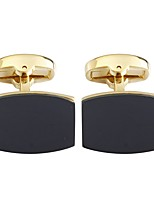 cheap -Geometric Cuboid Black Coffee Blue Cufflinks Copper Opal Asian Vintage Daily Formal Men's Costume Jewelry