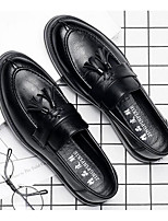 cheap -Men's Shoes Synthetic Microfiber PU Spring Fall Comfort Loafers & Slip-Ons for Casual Black Gray Brown